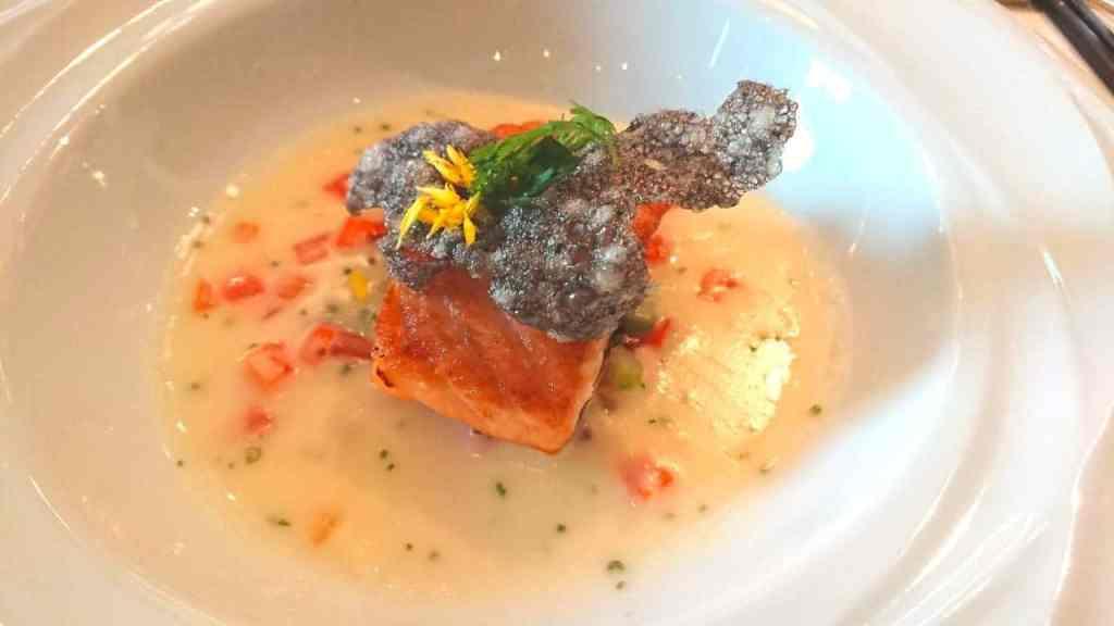 文華 cafe 柚香奶油挪威國王鮭魚