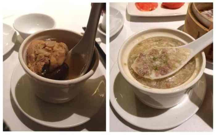 潮品集 主廚推薦湯品-西湖牛肉羹 以及 原盅北菇燉雞湯