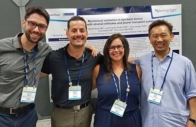 Dr. Gabriel Rand, Patrick Gore, Lynn Forest-Smith and Dr. Roy Chuck at ARVO 2018