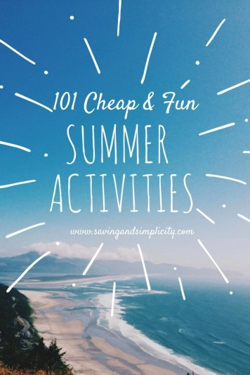 Are you looking for a great list of fun & super cheap summer activities? Look no further! 101 super fun, super cheap things to do with the kids this summer.