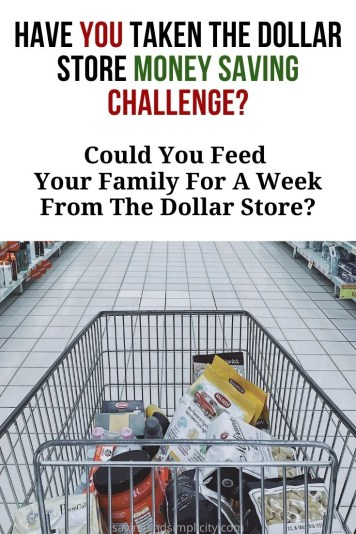 Could you feed your family for a week from the dollar store for $50? Yes, you can! Feed a family for a week for $50 at the dollar store. Frugal living.