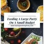 Feeding and large party on a small budget. 10 meal ideas for your next large get together. Simple easy, budget friendly meal ideas.