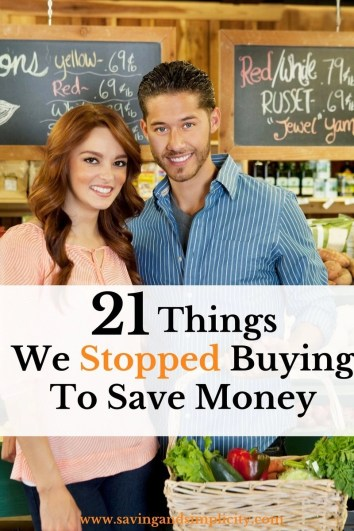 21 things we stopped buying to save huge amounts of money