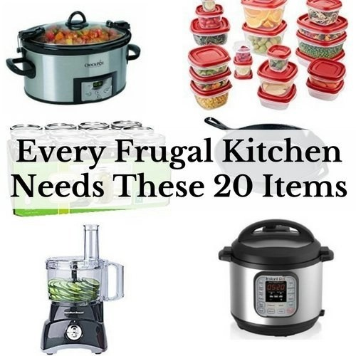 Are you looking for that must have kitchen item that will make your life easier and more frugal? Here are 20 kitchen items that will help you save money.