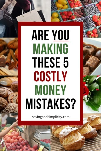 Are you spending too much on groceries? Discover the 5 money mistakes you might be making at the grocery store. Start saving more money today.