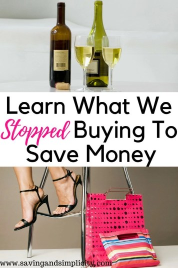 learn what we stopped buying