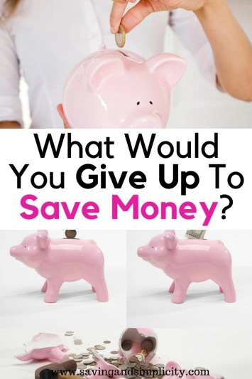 What would you give up to save money? We gave up 21 items and saved over $1000 a month. What are you ready to give up to start saving money?