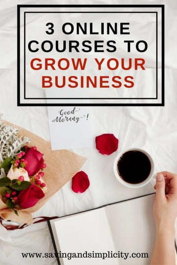 Are you looking to grow your business? Increase your pageviews? And make more money? Learn the 3 online courses that helped me grow my blog into a business.