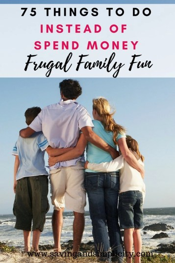 Are you looking for fun frugal family things to do? Here are 75 great ideas that aren't going to cost you a dime. No more boredom. No breaking the bank.