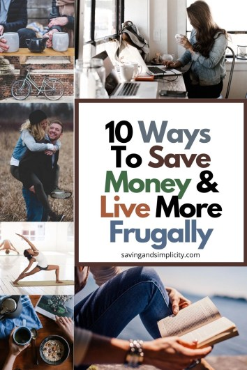 live frugally and save money