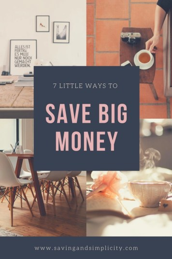 Seven simple little ways to save big money. Stop stressing, stop clipping coupons and start being smart with your money. Start saving money today.