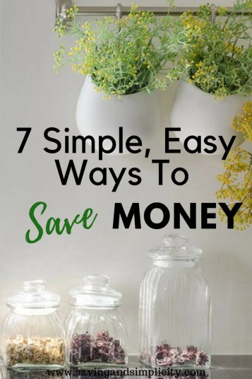 Are you looking for simple, easy ways to save money on your bills and expenses? Learn 7 simple, frugal ways to save money today.