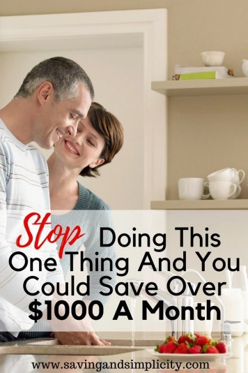 You probably do this and don't even realize you are doing it. The last person I talked to said they only do it every once in a while and it doesn't add up to too much. Stopping this one activity could save you over $1000 a month. Frugal living, saving money.