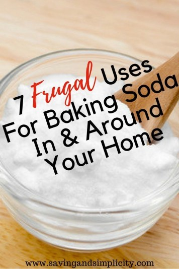 Baking soda isn't just for baking or removing bad smells in the fridge. Learn 7 frugal uses for baking soda in and around your home. Cut your costs with this one simple frugal ingredient.