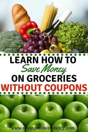 Are you looking to save money on your household expenses? Learn 7 ways to save money on your groceries without clipping coupons. Start saving money today. It is time to shop smarter, save money and stress less.