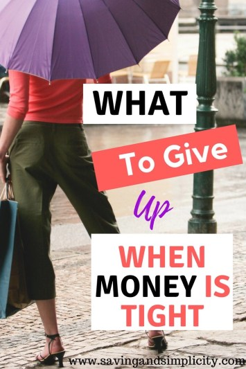 Is money tight right now? Are you drowning in bills, debt and stress? Learn 10 things to give up when money gets tight. You will get through this, learn how