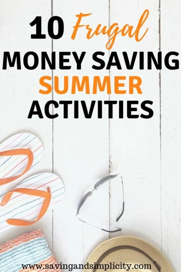 Summer means longer lazy days, picnics in the park and barbecue dinners.Learn 10 frugal, money saving summer activities. Frugal family fun. No spend weekends. Cheap kids activities.