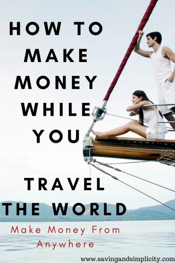 Wouldn't it be amazing to pack your bags and kiss your 9-5 goodbye and go traveling?  Learn how you can make money while you travel the world.