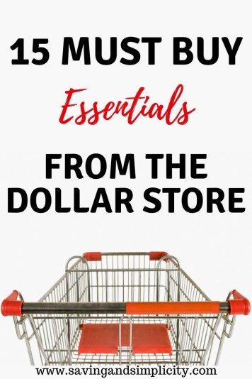 Dollar stores are a money saving wonderland. Learn the 15 items you should only buy at the dollar store. Start saving money today.