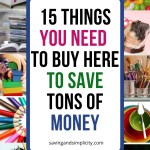 The dollar store is the best place to save money! Discover 15 items you should only buy at the dollar store otherwise you are paying too much.