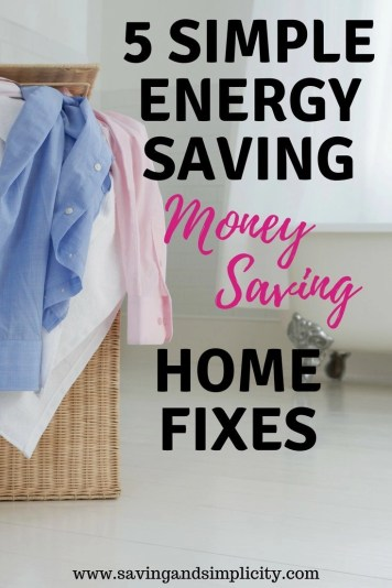 Are your home expenses to high? Learn 5 simple energy saving home fixes that will help you save money and decrease your utility costs.