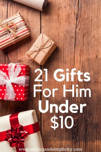 21 gifts for him under $10. Christmas presents, stocking stuffers, holiday gifts and more. Save your holiday budget with these amazing gifts for $10 or less