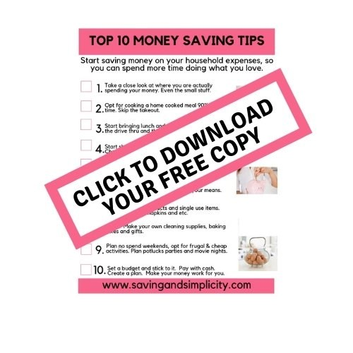 top 10 money saving tips