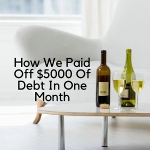 Learn the simple and easy steps we took to pay off $5000 of debt in one month. If we can save money, budget and live frugally so can you. Learn how.