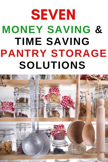 Simple, money saving pantry organization solutions. These seven organizational items will help you organize your pantry in no time.