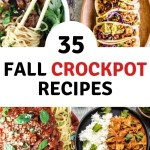 Nothing says Fall comfort like easy to prepare Crockpot meals. Simple, easy dump and go recipes that satisfy even the pickiest eaters. Discover 35 delicious recipes. No weeknight dinner will be the same.