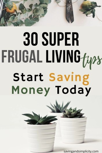 start saving money today