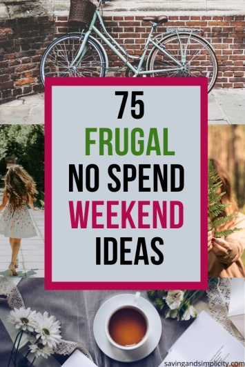 frugal no spend weekend ideas