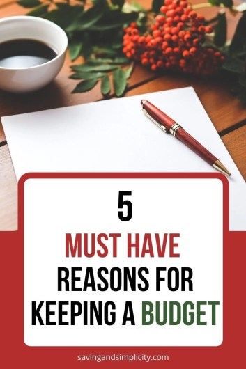 Budgeting allows you to do more than you imagine. Discover the top 5 reasons to have a budget. Create a plan that includes debt reduction, saving and frugal living.