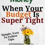 saving money in tight budget