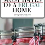 secrets frugal home