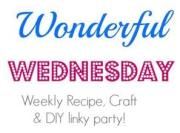 Wonderful Wednesday Linky Party: Recipes, Crafts, and DIY Projects 2/12