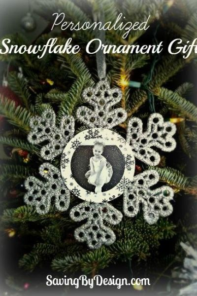 DIY Personalized Snowflake Ornament Gift