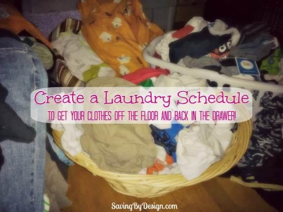 Create a Laundry Schedule pm