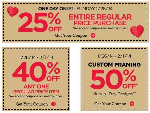 michaels coupon - Michaels Framing Coupons