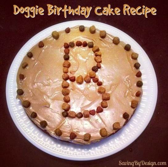 Have a birthday coming up for your special canine companion? Make them their very own doggie birthday cake to celebrate! Yes, you can have a piece too! :)
