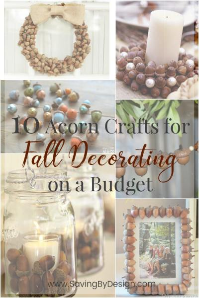 10 Acorn Crafts for Fall Decorating on a Budget