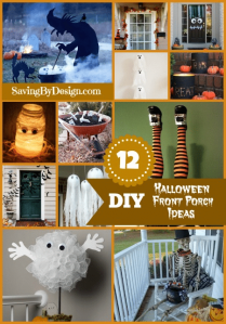 12 Ghoulish Halloween Front Porch DIY Ideas