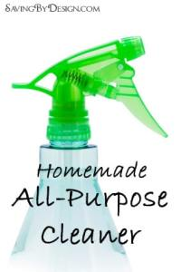 Homemade Natural All-Purpose Cleaner Recipe