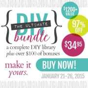 The Ultimate DIY Bundle is Here! {Available January 21 – 26, 2015 Only!}