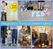 There are so many creative ways to announce your pregnancy these days! I love that they involve older children, pets, funny husband involvement, and more! Here are my 10 favorites.