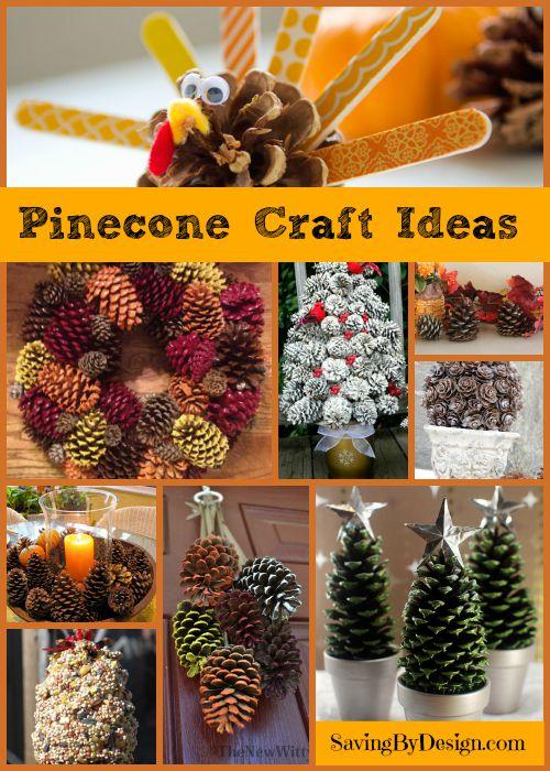 Pine cone craft ideas for festive fall decorating saving for Pine cone craft ideas