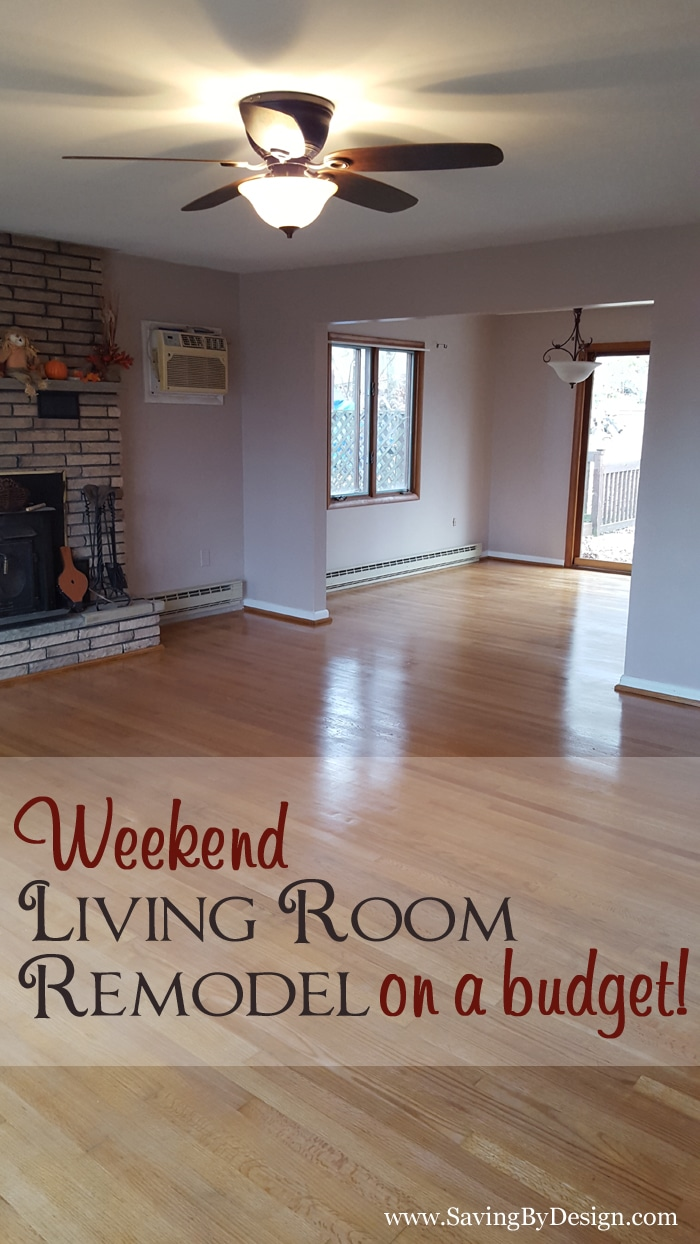 Family Room Design Ideas On A Budget: Our Weekend Living Room Remodel On A Budget