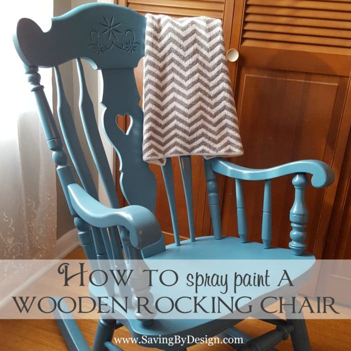 How to Spray Paint a Wooden Rocking Chair  Its Less Than