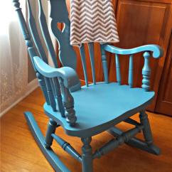 Wooden Rocking Chairs Nursery Mirrored Dining Table And Chair Makeover Spray Paint It For Less Than 10 Our Was In Need Of A Third Child