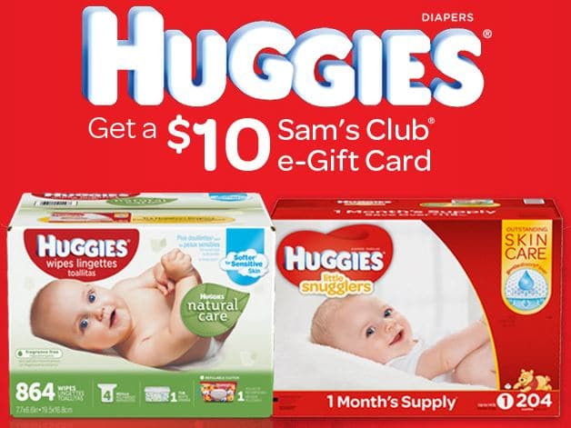 Sam's Club $10 e-gift card